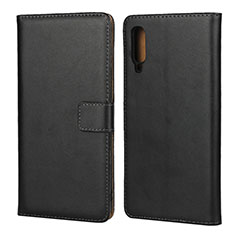 Custodia Portafoglio In Pelle con Supporto per Samsung Galaxy A70 Nero