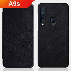 Custodia Portafoglio In Pelle con Supporto per Samsung Galaxy A9s Nero
