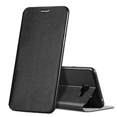 Custodia Portafoglio In Pelle con Supporto per Samsung Galaxy C5 SM-C5000 Nero
