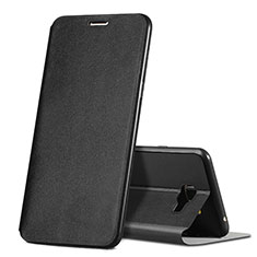 Custodia Portafoglio In Pelle con Supporto per Samsung Galaxy C7 SM-C7000 Nero