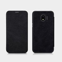 Custodia Portafoglio In Pelle con Supporto per Samsung Galaxy J2 Pro (2018) J250F Nero