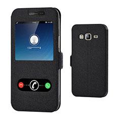 Custodia Portafoglio In Pelle con Supporto per Samsung Galaxy J3 (2016) J320F J3109 Nero