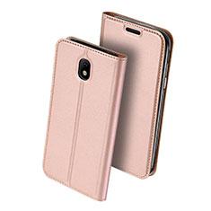 Custodia Portafoglio In Pelle con Supporto per Samsung Galaxy J5 (2017) SM-J750F Rosa