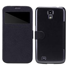 Custodia Portafoglio In Pelle con Supporto per Samsung Galaxy Mega 6.3 i9200 i9205 Nero