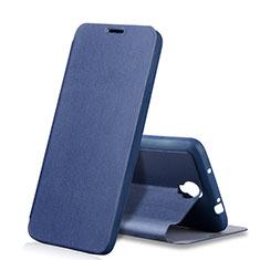 Custodia Portafoglio In Pelle con Supporto per Samsung Galaxy Note 3 Neo N7505 Lite Duos N7502 Blu