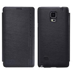 Custodia Portafoglio In Pelle con Supporto per Samsung Galaxy Note 4 Duos N9100 Dual SIM Nero