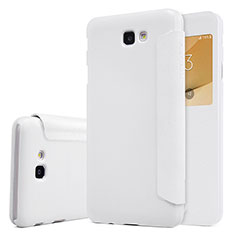 Custodia Portafoglio In Pelle con Supporto per Samsung Galaxy On5 (2016) G570 G570F Bianco