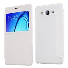 Custodia Portafoglio In Pelle con Supporto per Samsung Galaxy On5 Pro Bianco
