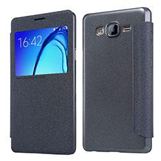 Custodia Portafoglio In Pelle con Supporto per Samsung Galaxy On5 Pro Nero