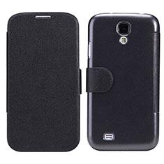 Custodia Portafoglio In Pelle con Supporto per Samsung Galaxy S4 IV Advance i9500 Nero