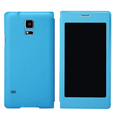 Custodia Portafoglio In Pelle con Supporto per Samsung Galaxy S5 Duos Plus Cielo Blu