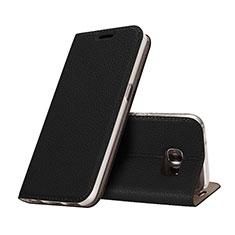 Custodia Portafoglio In Pelle con Supporto per Samsung Galaxy S7 G930F G930FD Nero