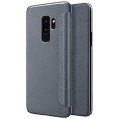 Custodia Portafoglio In Pelle con Supporto per Samsung Galaxy S9 Plus Nero
