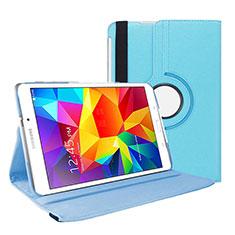 Custodia Portafoglio In Pelle con Supporto per Samsung Galaxy Tab 4 7.0 SM-T230 T231 T235 Cielo Blu