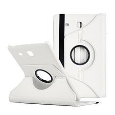 Custodia Portafoglio In Pelle con Supporto per Samsung Galaxy Tab E 9.6 T560 T561 Bianco