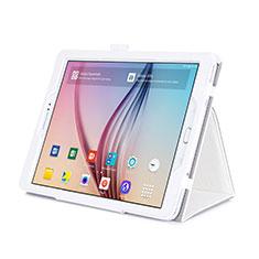 Custodia Portafoglio In Pelle con Supporto per Samsung Galaxy Tab S2 9.7 SM-T810 SM-T815 Bianco