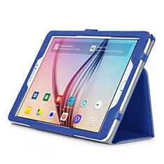 Custodia Portafoglio In Pelle con Supporto per Samsung Galaxy Tab S2 9.7 SM-T810 SM-T815 Blu