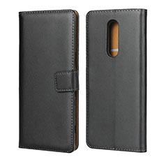 Custodia Portafoglio In Pelle con Supporto per Sony Xperia 1 Nero