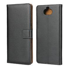 Custodia Portafoglio In Pelle con Supporto per Sony Xperia 10 Nero