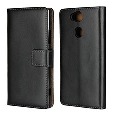 Custodia Portafoglio In Pelle con Supporto per Sony Xperia XA2 Plus Nero