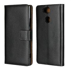Custodia Portafoglio In Pelle con Supporto per Sony Xperia XA2 Ultra Nero