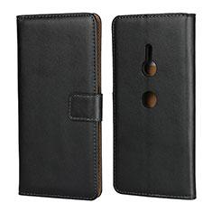 Custodia Portafoglio In Pelle con Supporto per Sony Xperia XZ3 Nero