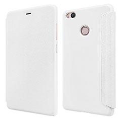 Custodia Portafoglio In Pelle con Supporto per Xiaomi Mi 4S Bianco