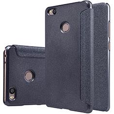 Custodia Portafoglio In Pelle con Supporto per Xiaomi Mi 4S Nero
