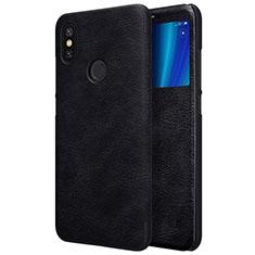 Custodia Portafoglio In Pelle con Supporto per Xiaomi Mi 6X Nero