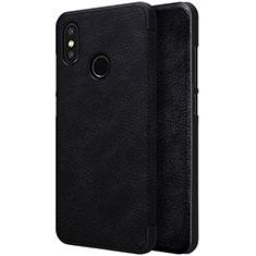 Custodia Portafoglio In Pelle con Supporto per Xiaomi Mi 8 Nero