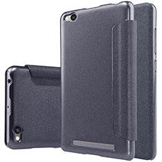 Custodia Portafoglio In Pelle con Supporto per Xiaomi Redmi 3 Nero