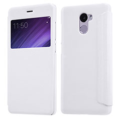 Custodia Portafoglio In Pelle con Supporto per Xiaomi Redmi 4 Standard Edition Bianco