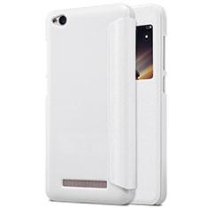 Custodia Portafoglio In Pelle con Supporto per Xiaomi Redmi 4A Bianco