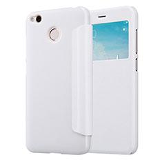 Custodia Portafoglio In Pelle con Supporto per Xiaomi Redmi 4X Bianco