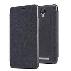 Custodia Portafoglio In Pelle con Supporto per Xiaomi Redmi Note 2 Nero