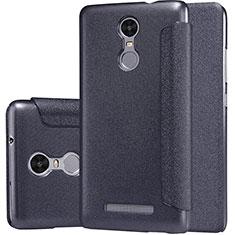 Custodia Portafoglio In Pelle con Supporto per Xiaomi Redmi Note 3 MediaTek Nero