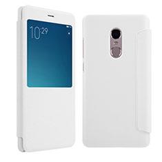 Custodia Portafoglio In Pelle con Supporto per Xiaomi Redmi Note 4X High Edition Bianco