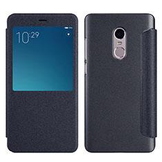 Custodia Portafoglio In Pelle con Supporto per Xiaomi Redmi Note 4X High Edition Nero
