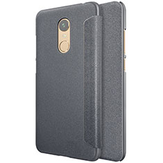 Custodia Portafoglio In Pelle con Supporto per Xiaomi Redmi Note 5 Indian Version Nero