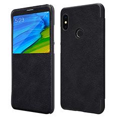 Custodia Portafoglio In Pelle con Supporto per Xiaomi Redmi Note 5 Nero