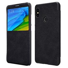 Custodia Portafoglio In Pelle con Supporto per Xiaomi Redmi Note 5 Pro Nero