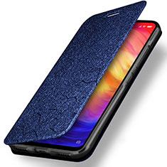 Custodia Portafoglio In Pelle con Supporto per Xiaomi Redmi Note 7 Pro Blu
