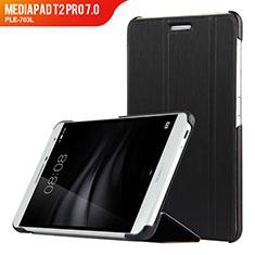 Custodia Portafoglio In Pelle con Supporto R01 per Huawei MediaPad T2 Pro 7.0 PLE-703L Nero