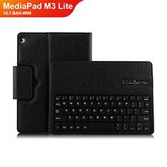 Custodia Portafoglio In Pelle con Tastiera L01 per Huawei MediaPad M3 Lite 10.1 BAH-W09 Nero