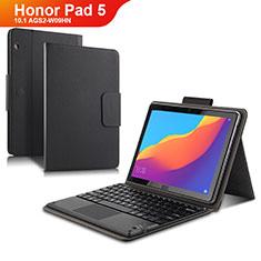 Custodia Portafoglio In Pelle con Tastiera per Huawei Honor Pad 5 10.1 AGS2-W09HN AGS2-AL00HN Nero