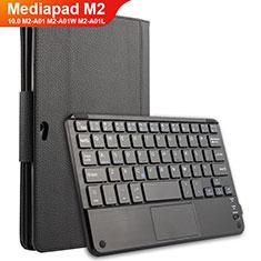 Custodia Portafoglio In Pelle con Tastiera per Huawei MediaPad M2 10.0 M2-A01 M2-A01W M2-A01L Nero
