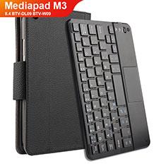 Custodia Portafoglio In Pelle con Tastiera per Huawei Mediapad M3 8.4 BTV-DL09 BTV-W09 Nero