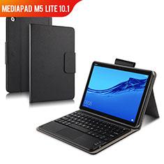 Custodia Portafoglio In Pelle con Tastiera per Huawei MediaPad M5 Lite 10.1 Nero