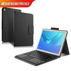 Custodia Portafoglio In Pelle con Tastiera per Huawei MediaPad M5 Pro 10.8 Nero