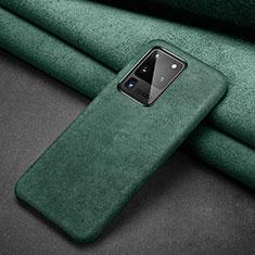 Custodia Portafoglio In Pelle Cover con Supporto C02 per Samsung Galaxy S20 Ultra Verde